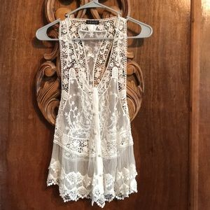 Very pretty lace vest.